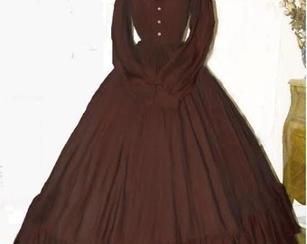 I-D-D Civil War Reenactment Victorian Garibaldi Truffle 3 Piece Dress 2XL/3XL
