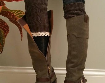 Boot Cuffs with lace trim