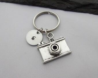 Camera Keyring, Initial Keyring, Photographer Keyring, Hand Stamped, Photography Keyring, Photography Keychain,Personalised,Photography Gift