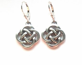 Silver Celtic Knot Earrings - Celtic Earrings - Irish Earrings - Scottish Earrings - Silver Celtic Jewelry