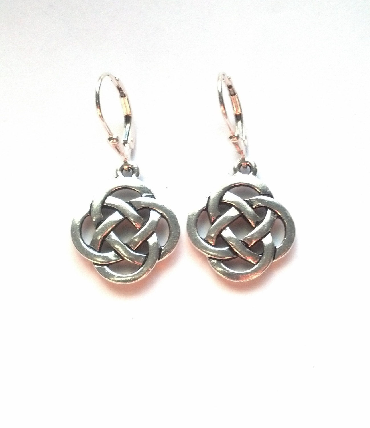 celtic knotwork earrings silver celtic knot earrings celtic earrings earrings 492