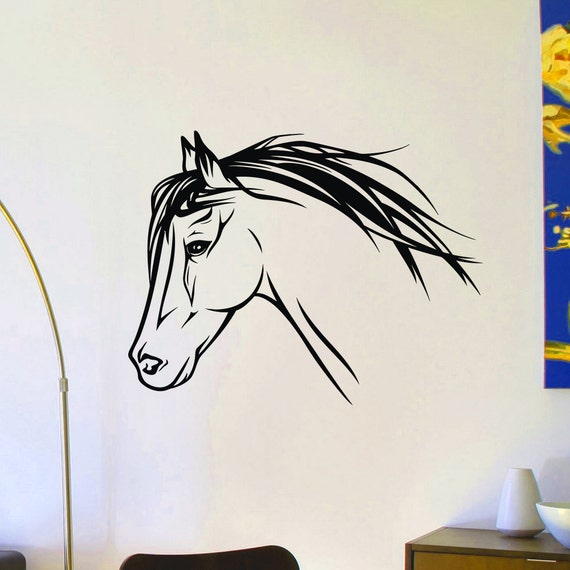 animal wall decal wild animals horse head wall decals murals