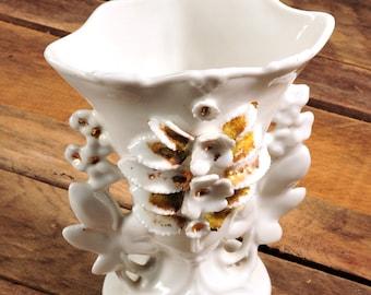 Antique Porcelain Wedding Vase,  Flowers, French Ceramic Marriage Vase,Shabby Cottage Boudior Decor French Wedding, Paris porcelain, French