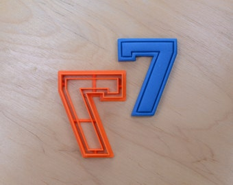 Varsity Number Seven Cookie Cutter