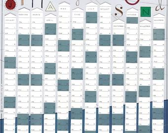 2017 Year Planner  /  Wall Calendar