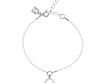 Cupcake 925 Sterling Silver thin minimalist delicate charm bracelet with box