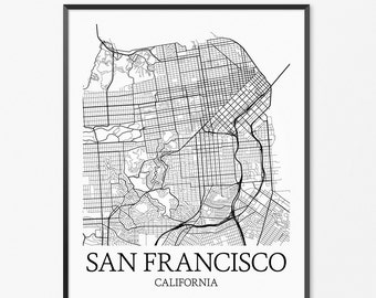 SAN FRANCISCO map print San Francisco poster San Francisco