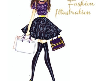 Custom Fashion Illustration - Custom illustration  -  Custom portrait