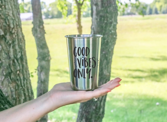 GOOD VIBES ONLY | Stainless Steel Tumbler | 18 oz. | Outdoor Drinkware