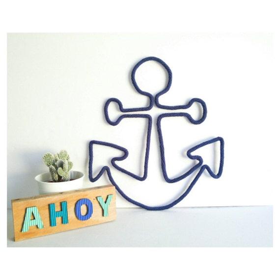 Anchor Wall Decor Nursery : Anchor decor nursery wall art nautical
