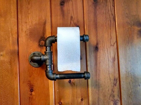 Rustic Industrial Double Roll Toilet Paper Holder By