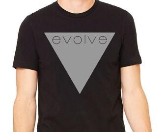 Evolve Unisex Black Tee
