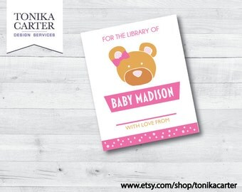 Bear Bookplate (pink)