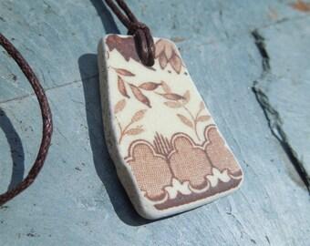 Cornish sea pottery necklace