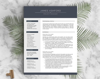 modern resume template for word and pages 1 3 page resume cover letter - Pages Resume Template