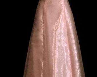 Pink Iridescent Chiffon Ball Gown              VG175