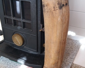 Vintage Riding Boot Last Mans Wooden c1910 Interior Design
