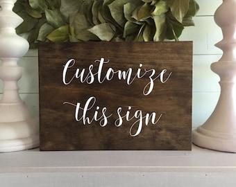 Custom wood Signs, Custom sign, Custom Sign for home, Custom signage, wooden signs, custom rustic wooden sign, custom font, C1