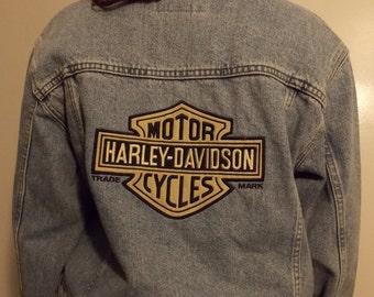 HARLEY DAVIDSON 90's Denim Jacket *EXCELLENT Condition*