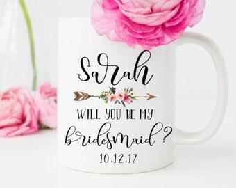 Will you be my bridesmaid gift, Bridesmaid Mug, Bridesmaid Gift, Bridesmaid Proposal, Custom Bridesmaid Mug, Personalized Gift