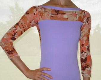 Add 3/4 Sleeves to custom leotard -ballet leotard by Yukitard