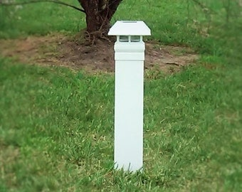 E-Z Solar Driveway Markers. Set of 2.  EZ to install. No Dig. No Cement. Installs in minutes! FREE SHIPPING!