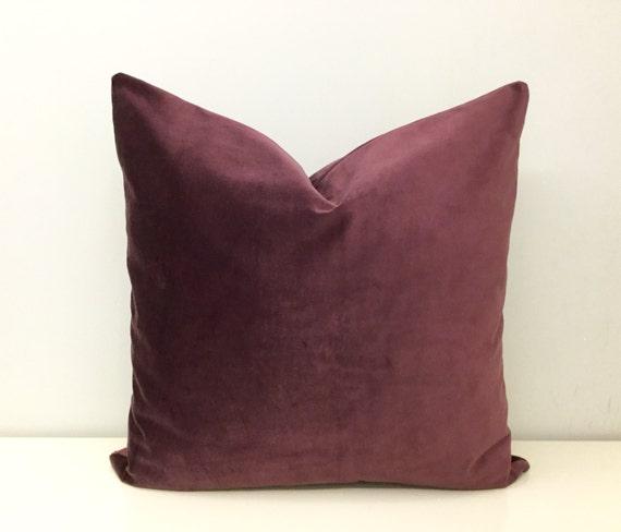 Throw Pillows Printing : Plum Velvet Pillow Cover Velvet Throw Pillows by artdecopillow