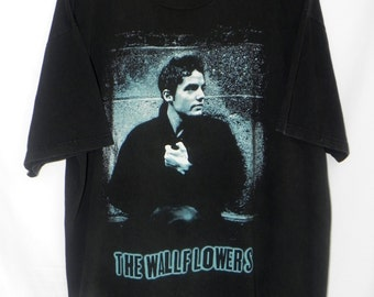 90s//The Wallflowers//American Rock Band//Jakob Dylan//On Tour//Bringing Down the Horse Album Promo//Tshirt