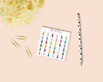 Mini Rainbow Party Hat Stickers! Perfect for the Erin Condren Life Planner! Great for Marking Birthdays, Parties, or Celebrations!