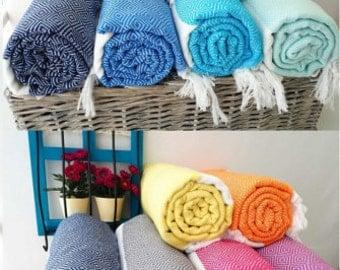 Diamond Pattern  Cotton Turkish Bath Towel,Beach Blanket,Bridesmaid Gift Wedding Gift,Turkish Beach Towel and Bath Towel,Beach  Cover