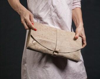 Women's Designer Handbag - Camel Leather Clutch Bag - Women's Shoulder Bag - Leather Purse - Leather Wallet - Women's Leather Clutch bag