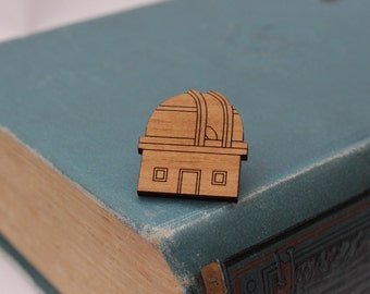 Observatory Brooch | Laser Cut Space & Science Jewellery | Planets