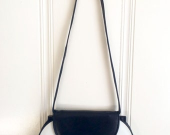 Vintage Black and White Aly Handbag Styled by Alberto