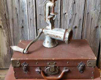 French Vintage Cast Iron Perfection Meat Grinder or Mincer  -  French Vintage Kitchenalia  -  Industrial Decor