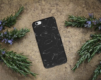 STAR CONSTELLATION CASE black iPhone snap on case