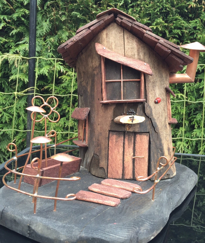 Gnome Tree Stump Home: Fairy House Tree Stump No. 7 Pixiedale Garden Ornaments