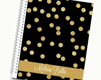 2017  Planner, Weekly Planner Custom Planner Journal 2016 Diary Notebook Custom Gift Meal Planner Student Planner Agenda Organizerss
