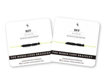 FRIENDSHIP Bracelets - Morse Code - Set of 2 - Gift for BFF, Bestie, Best Friend, Best Friends, Friends - Nylon