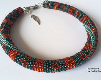 """Necklace choker with indian pattern """"Indian ethnic"""""""
