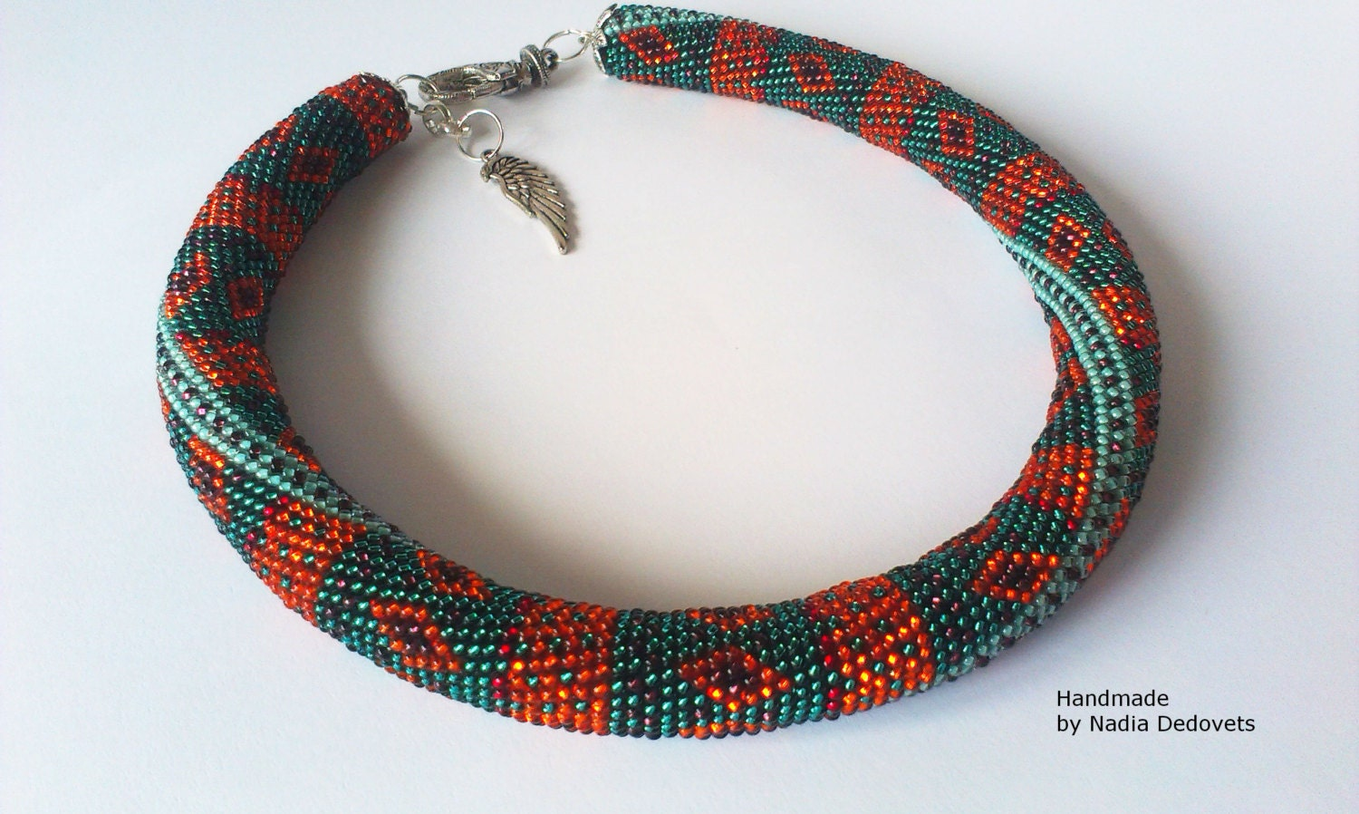 beaded necklace beaded choker indian pattern ethnic jewelry