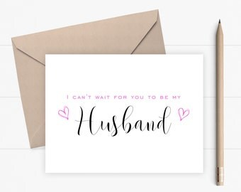 Husband Wedding Card I Can't Wait For You To Be My Husband Proposal Card Wedding Card for Husband Asking Card