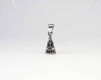 Kuan yin pendant Sterling Silver 925 Kwannon