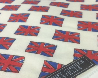 Little Britain Union Jack Bandana Bib (size 6 months to toddler)