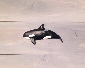 Orca wall mount statue