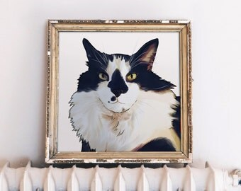 Photo to Digital Painting, Digital Pet Painting, Pet Painting Digital, Digital Pet Art, Digital Pet Portrait, Pet Portrait Digital Art