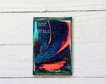 Tame Impala - Tame Impala art - Graphic design - Music posters - psychedelic art - wood art - bookshelf decor - alternative art - handmade