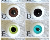 BJD doll eyes 16mm Glass Eyes handmade high quality