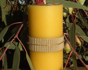 Pure Beeswax Candle - Tall Pillar