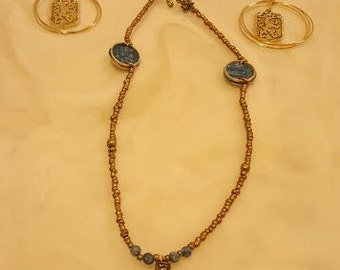 LION OF JUDAH. Necklace and Earring Set