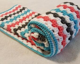 Granny Square Blanket | Colorful Blanket | Baby Item | Boy or Girl Baby Blanket | Crochet Baby Blanket